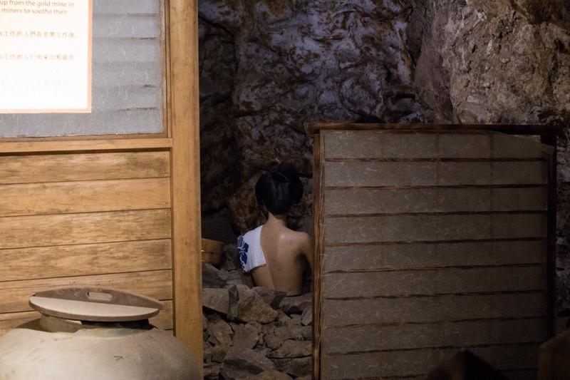 おねいさん(人形)が入浴中