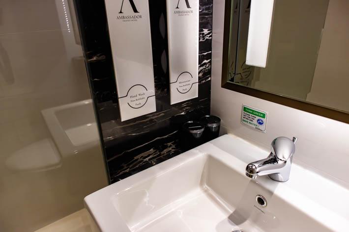 洗面所も清潔