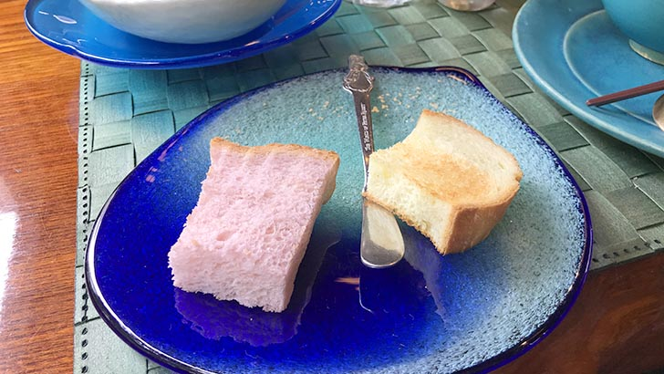 紅芋とウコンのパン