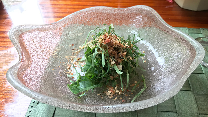 長命草のサラダ