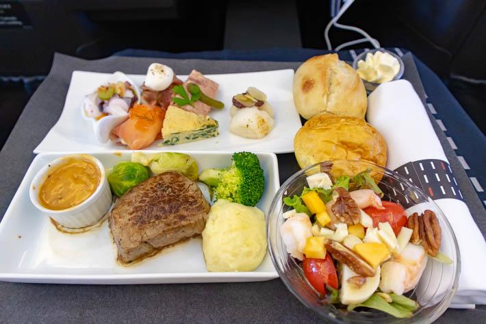 JALビジネスクラス(洋食)
