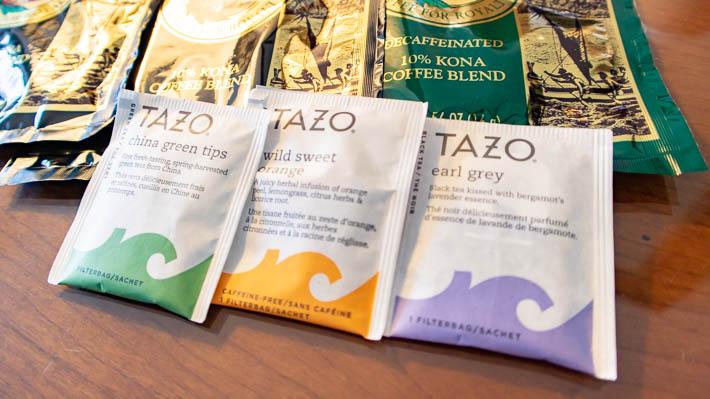 紅茶と緑茶は1種類ずつ、合計3袋