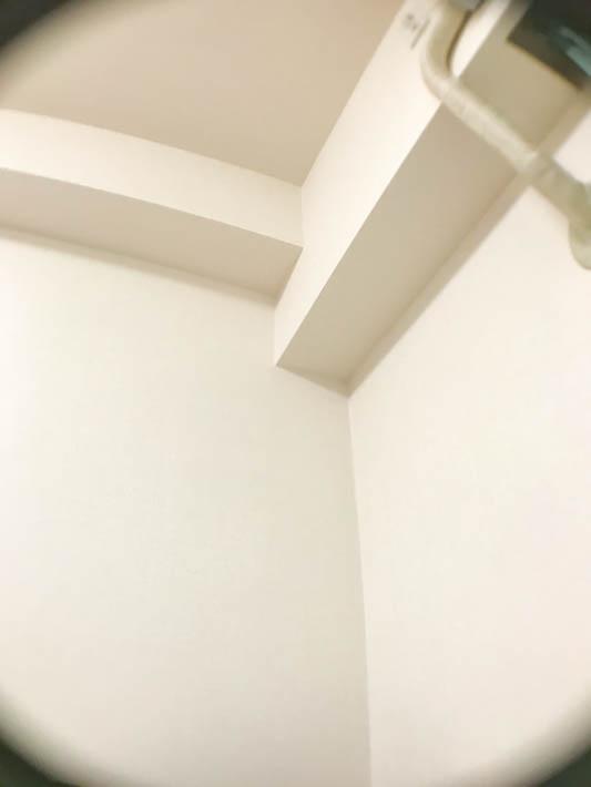 キャンドゥの広角レンズを使って撮影した部屋の角。